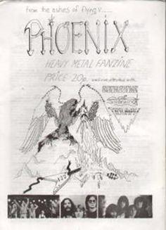 PHOENIX ISSUE 1 HEAVY METAL FANZINE various magazine uk - 1981 uk metal fanzine