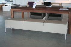 Bench tafelpoef leer satino sand - Designsales.nl