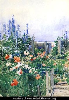 Home of the Hummingbird - Frederick Childe Hassam -