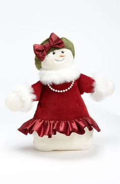 Woof & Poof 'Large' Snow Girl Decoration available at #Nordstrom