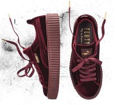 Rihanna x Puma continues with a Creeper in velvet and a new patent leather one.
