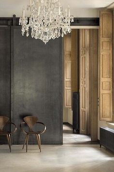 Love the balance of modern and traditional with this chandelier
