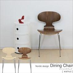 ダイニングチェア椅子北欧家具ウォールナット 即納 インテリア 雑貨 Scandinavian modern chairs ¥3400yen 〆04月30日