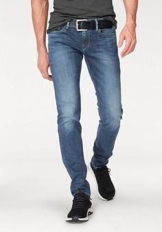 Pepe Jeans Slim-fit-Jeans »HATCH« ab 92,99€. 5 Pocket Style mit cooler Waschung, Perfekte Passform durch den Elasthanmix, Slim-fit/ schmale Form bei OTTO