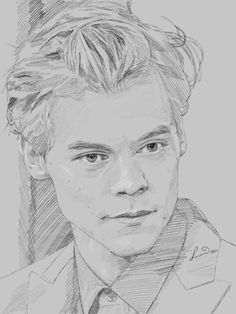 Cool Art Drawings, Pencil Art Drawings, Art Drawings Sketches, Arte One Direction, One Direction Drawings, Harry Styles Dibujo, Harry Styles Drawing, Harry Styles Zeichnung, Desenhos One Direction