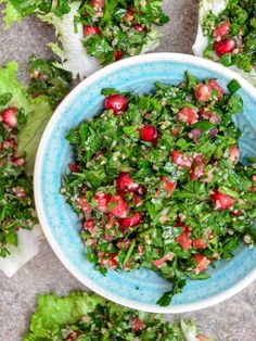 Save this healthy bulgur wheat recipe to make Tabbouleh With Pomegranate.