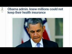 """EXPOSED‼  Obama Administration Knew Millions Could Not Keep Their Health Insurance‼ -- Pub. on Oct 28, 2013 -- This is a fraud and a set up , made to make the people pay‼  The Purpose of Obamacare: """"HAVING COMPLETE CONTROL OF THE AMERICAN PEOPLE""""...  Every Aspect Of Our Lives Will Be Affected !!!! http://investigations.nbcnews.com/_ne..."""