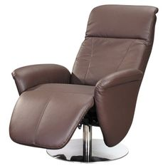 Rosana Flat Base Recliner Swivel Armchair with Manual Relax and Headrest Function - Recliners at Hayneedle