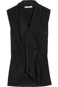 Etro Stretch silk-crepe top | NET-A-PORTER