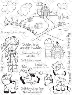 Oh Crop stamp set  There She Goes Stamps