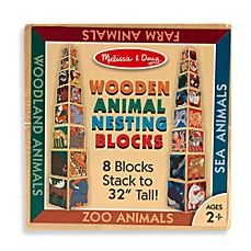image of Melissa & Doug® Wooden Animal Nesting Blocks