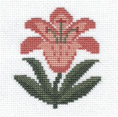 finished completed cross stitch PRAIRIE SCHOOLER garden blooms lily PREORDER