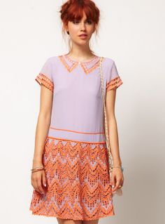Oh So Lovely Vintage: Peach & lilac.