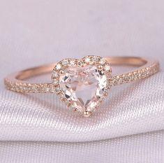 Heart Wedding Rings, Heart Engagement Rings, Engagement Ring Shapes, Custom Wedding Rings, Diamond Wedding Rings, Engagement Ring Settings, Rose Gold Promise Ring, Heart Promise Rings, Rose Gold Heart Ring