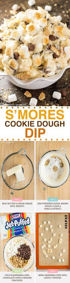 S'mores Cookie Dough Dip  @kraftjetpuffed #JetPuffed #JetPuffedBlogger #ad