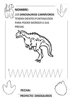 Proyecto completo dinosaurios. programación, fichas, recursos,pdf Coloring Pages, Words, Mario, Teacher, Google, Dinosaurs, Educational Crafts, Montessori Activities, Dinosaurs Preschool