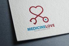 Medicine Love Logo by eSSeGraphic on @creativemarket