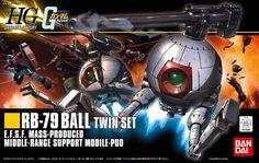 Bandai Hobby 1/144 HGUC HG Gundam #114 RB-79 Ball Twin Set