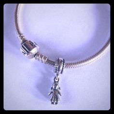 Pandora Girl Dangle Charm in Sterling Silver Pandora Girl Charm in Sterling Silver. The charm dangles and is perfect for a new mom. Charm only- Bracelet not included Pandora Jewelry Bracelets