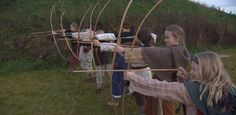 Time Travel: These Norwegian children have traveled back to the medieval period and practice archery. (Illustration: NRK Super) ... During the 8th and 11th century CE, the norse, pagan, people were under constant attack of the christian franks, who tried to exterminate every european non-christian! As a result children had to learn 'martial arts', from early age on!