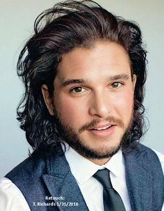 Kit Harington for GQ Magazine Who doesn't love Jon Snow? Jon Snow, Kit Harington, Kit Harrington Hair, Game Of Thrones Cast, King In The North, Avan Jogia, Taylor Kitsch, Haircuts For Men, Celebrity Crush