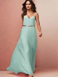 4108683ca3493 Image result for victoria secret knife pleat maxi dress mint