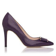 Aleshia Printed Leather Point Toe Court Shoe