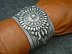 Navajo Sterling Silver Cuff Bracelet By D Becenti 135 grams 1 7/8 inches wide gap 1 1/8 inches 135 grams