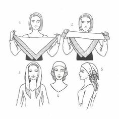 how-to tie a peasant tie (square scarf) Great to try for a head wrap