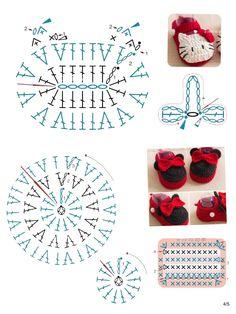 80 Patrones para hacer zapatitos, botines y zapatillas de bebés en crochet (free patterns crochet sandals babies – Salvabrani – BuzzTMZ Crochet Shoes Pattern, Crochet Baby Sandals, Crochet Bear, Crochet Baby Booties, Crochet Slippers, Crochet Patterns, Bead Crochet Rope, Easy Crochet, Crochet Bookmarks