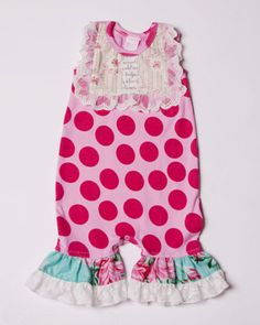 Giggle Moon Apple of My Eye Shortall for your baby girl | Pixie Stix Boutique