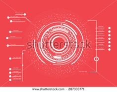 Futuristic white infographics as head-up display - stock vector