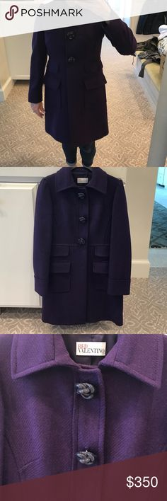 Red Valentino purple coat Adorable purple fashion coat by Red Valentino! It is just about the cutest piece I've ever owned! Look at the buttons!! RED Valentino Jackets & Coats