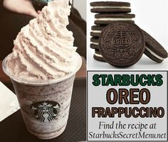 Starbucks Oreo Frappuccino Here's a chocolate cookie favorite! A classic flavor, and definitely worth trying out! Starbucks Oreo Frappuccino Here's a chocolate cookie favorite! A classic flavor, and definitely worth trying out! Yummy Drinks, Delicious Desserts, Dessert Recipes, Yummy Food, Starbucks Oreo Frappuccino, Oreo Frappe Recipe, Starbucks Coffee, Iced Coffee, Coffee Art
