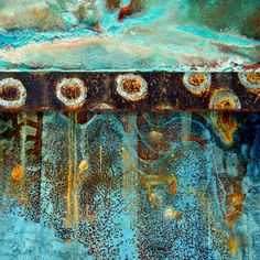 Earth Spirits II, by LuAnn Ostergaard. Patterns In Nature, Textures Patterns, Art Texture, Rust Paint, Earth Spirit, Peeling Paint, Rusty Metal, Mixed Media Art, Abstract Art