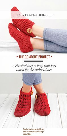 I've made this pattern for the classic way crochet slippers lovers. This pattern was inspired by my grandma. About 35 years ago, my grandma has teach me how to make socks (knitted or crocheted), to make good looking heels on them and now I share her wisdom with you.  Let's make some quick and easy slippers!