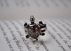 Turtle Ring by KellyStahley on Etsy, $15.00