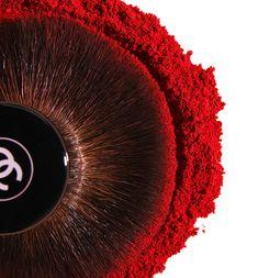 NATASHA V. PHOTOGRAPHY, powder, brush, chanel, beauty and cosmetics, make-up, dark red,