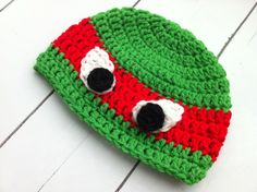 Crochet Ninja Turtle Hat ~ Know Make More Plans Over Innovative 46 Pictures Crochet Ninja Turtle Hat for Specific Crocheted Inspired Ninja Turtle Hat Crochet Creation by On Crochet Ninja Turtle Hat Crochet Ninja Turtle, Ninja Turtle Hat, Ninja Turtles, Turtle Hats, Crochet For Kids, Diy Crochet, Crochet Hats, Batman Crochet Hat, Crochet Hat Tutorial