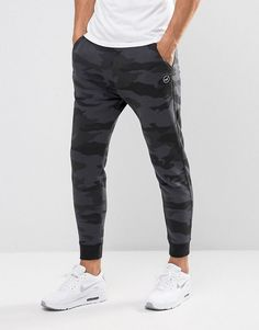 b447c2ed86421 Hollister Cuffed Joggers Skinny Fit Leg Logo in Black Camo