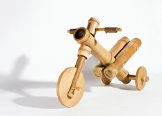 This tricycle designed for children by Vietnamese firm a21studio has been crafted from bamboo and finished with ropes.