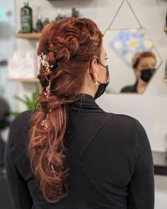 Wedding hair updo braid dutch braid Brand Board, Hair Updo, Braided Updo, Braid Styles, Updos, Dutch, Wedding Hairstyles, Braids, Dreadlocks