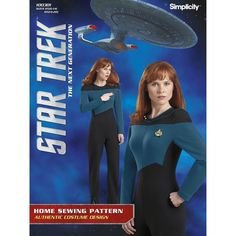 Get carried away recreating your favorite Star Trek: The Next Generation character with this Misses' jumpsuit pattern.