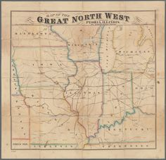 Map of the great north west: showing Peoria, Illinois, the geographigal centre…