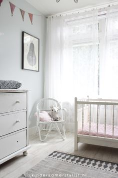 Meisjeskamer #babykamer #nursery   Styling Kinderkamerstylist