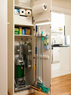 Organization - not sure where I can fit this closet but good ideas.  Where can I move m pantry to?