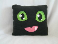 Toothless Pillow How to Train Your Dragon by plushworkshop on Etsy