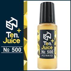 国産電子タバコリキッド Ten. eJuice PLUS NO.500 滑らかなバニラの香りと柔らかな喫味 Ten. eJuice PLUS NO.500 バニラタバコ風味 #電子タバコ #vape #電子タバコリキッド #vapeリキッド #ejuice #eliquid