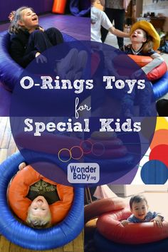O-Rings are the newest and coolest toys designed for visually impaired kids. Each ring is a different color, texture and weight. Kids can stack them, lay in them, roll them, crawl over them or through them.