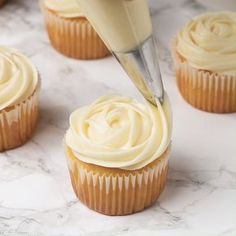 Cream cheese frosting that is so creamy and light! This silky Cream Cheese Frosting is a basic recipe that can be used in a variety of ways. It's not too sweet and has a ton of tangy cream cheese flavor! Cupcake Recipes, Baking Recipes, Cupcake Cakes, Meat Recipes, Chicken Recipes, Poke Cakes, Layer Cakes, Salmon Recipes, Rice Recipes